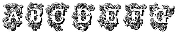 Surrey Shadow Font UPPERCASE