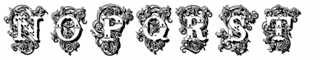 Surrey Shadow Font LOWERCASE