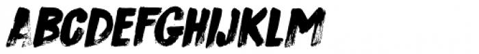 Sushi Bar Italic Font LOWERCASE
