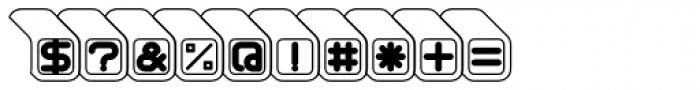 Sushi Outline Font OTHER CHARS