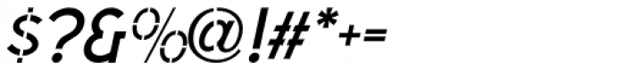 Sussex Semi Stencil JNL Oblique Font OTHER CHARS
