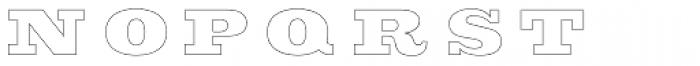 Sutro Deluxe Inline Font UPPERCASE