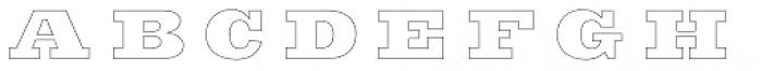 Sutro Deluxe Inline Font LOWERCASE