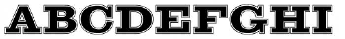 Sutro Initials Inline Font UPPERCASE