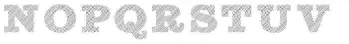 Sutro Shaded Hatching Font UPPERCASE