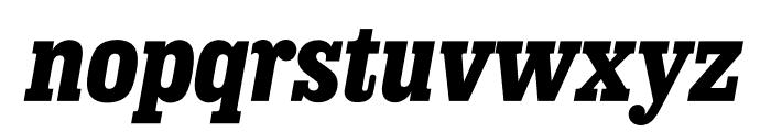 Sunday Clarendon Bold Italic Font LOWERCASE