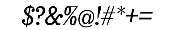 Sunday Clarendon Medium Italic Font OTHER CHARS