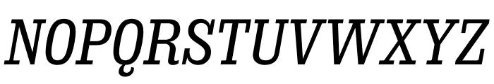 Sunday Clarendon Medium Italic Font UPPERCASE