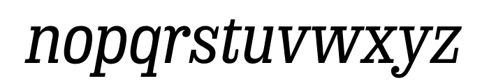 Sunday Clarendon Medium Italic Font LOWERCASE