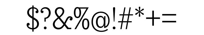 Sunday Clarendon Regular Font OTHER CHARS
