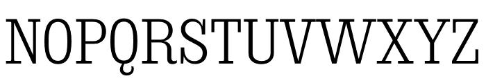 Sunday Clarendon Regular Font UPPERCASE