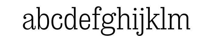 Sunday Clarendon Regular Font LOWERCASE