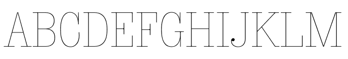 Sunday Clarendon Thin Font UPPERCASE