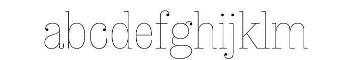 Sunday Clarendon Thin Font LOWERCASE