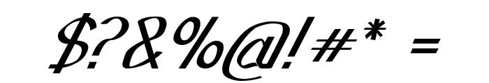Sundowner-BoldItalic Font OTHER CHARS