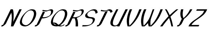 Sundowner-BoldItalic Font UPPERCASE