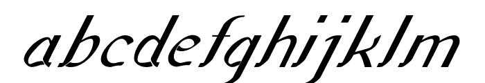 Sundowner-BoldItalic Font LOWERCASE