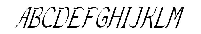 Sundowner-CondensedItalic Font UPPERCASE