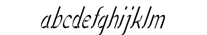 Sundowner-CondensedItalic Font LOWERCASE