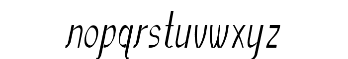 Sundowner-CondensedRegular Font LOWERCASE