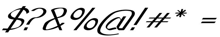 Sundowner-ExpandedItalic Font OTHER CHARS
