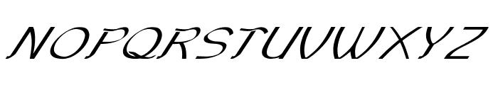 Sundowner-ExpandedItalic Font UPPERCASE