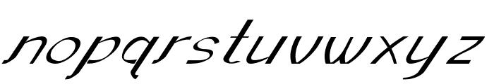 Sundowner-ExpandedItalic Font LOWERCASE