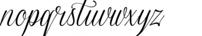 Sverige Script Clean Font LOWERCASE