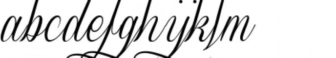 Sverige Script Decorated Font LOWERCASE