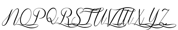 Sverige Script Decorated Demo Font UPPERCASE