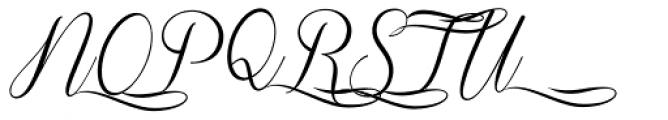 Sverige Script Decorated Font UPPERCASE