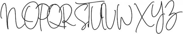 Sweet Blush Alt Regular otf (400) Font UPPERCASE