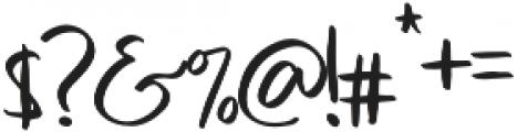 Sweet Buttermilk Script otf (400) Font OTHER CHARS
