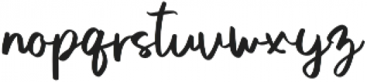 Sweet Buttermilk Script otf (400) Font LOWERCASE