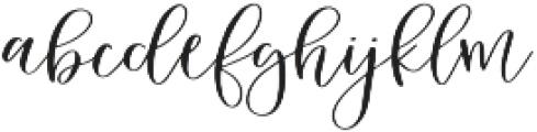 Sweet Carolina Script otf (400) Font LOWERCASE