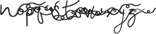 Sweet Dreamer Swashes otf (400) Font LOWERCASE