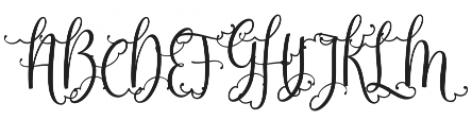 Sweetgentle otf (400) Font UPPERCASE