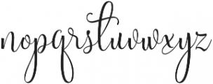 Sweetgentle ttf (400) Font LOWERCASE