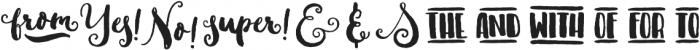 Sweetgrass Catchwords otf (400) Font UPPERCASE