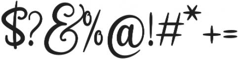Sweetie Almeera Script otf (400) Font OTHER CHARS