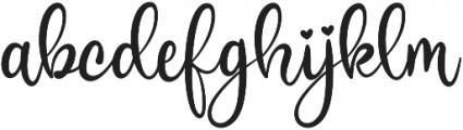 Sweetie Almeera Script otf (400) Font LOWERCASE