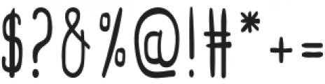 Sweetness Regular otf (400) Font OTHER CHARS