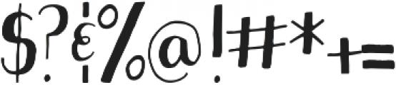 Sweetstuff otf (400) Font OTHER CHARS
