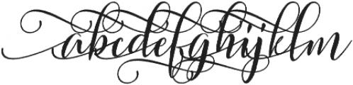 Sweitenia Rough Slanted ttf (400) Font LOWERCASE