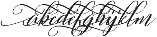 Sweitenia Slant ttf (400) Font LOWERCASE