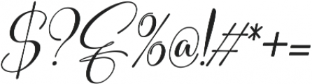 Sweitenia Slanted ttf (400) Font OTHER CHARS