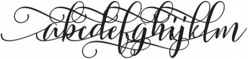 Sweitenia Slanted ttf (400) Font LOWERCASE