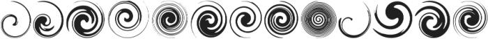 Swirlies Regular ttf (400) Font UPPERCASE