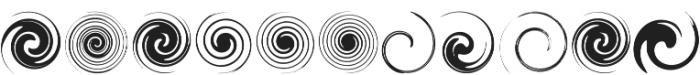 Swirlies Regular ttf (400) Font LOWERCASE