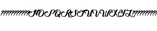 Sweet Ink Calligraphy Font Elegant Lettering Font UPPERCASE